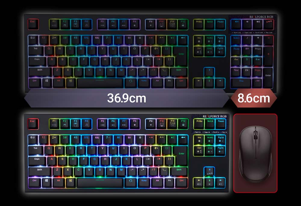 Product Realforce Rgb Tkl Realforce Premium Keyboard Pbt Capacitive Key Switch