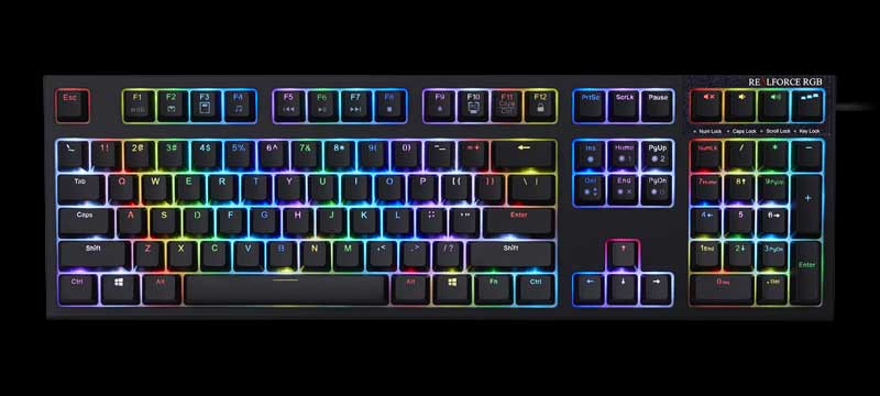 Products - Gaming | REALFORCE | Premium Keyboard, PBT, Capacitive Key Switch